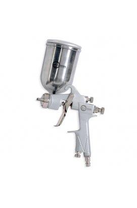 Краскопульт пневматический HP, форсунка 1.0мм, верхний металлический бачок 400мл, 5бар INTERTOOL PT-0201