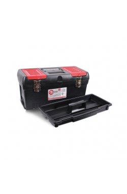 """Ящик для инструментов с металлическими замками, 19"""" 483x242x240 мм INTERTOOL BX-1019"""