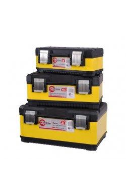 Комплект ящиков для инструментов с металлическими замками, 3 шт INTERTOOL B
