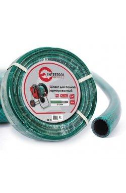 """Шланг для полива 3-х слойный 3/4"""", 50 м, армированный PVC INTERTOOL GE-4046"""