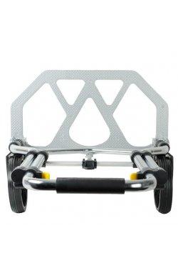 Тележка ручная складная до 100 кг, 420*480*980, колеса 170 мм, (алюминиевая) INTERTO