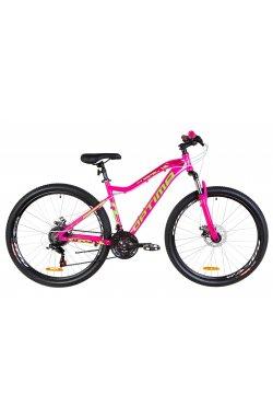 """Велосипед 27.5"""" Optimabikes ALPINA DD 2019 (малиновый с салатным)"""
