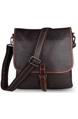 Сумка мужская Vintage 14257 Черная, Коричневый