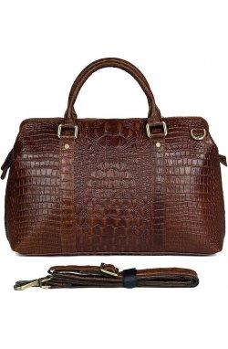 Сумка мужская Vintage 14557 из натуральной кожи Коричневая, Коричневый