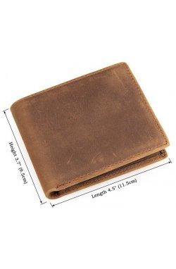 Кошелек мужской Vintage 14439 Коричневый, Коричневый