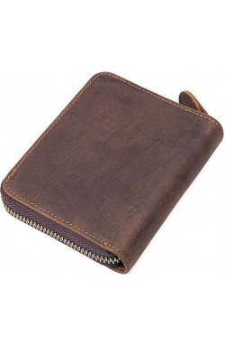 Портмоне Vintage 14535 из натуральной кожи Коричневое, Коричневый