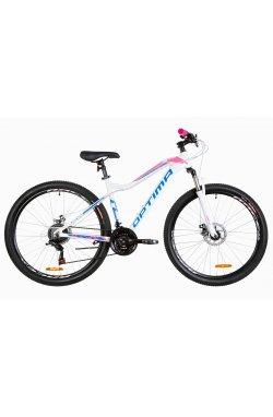 """Велосипед 27.5"""" Optimabikes ALPINA DD 2019 (бело-розовый с голубым)"""