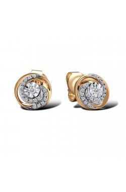 Серьги из красного золота с бриллиантами (1688056)