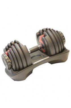Гантель с регулируемым весом LiveUp ADJUSTABLE DUMBBELL, 2,3-24 кг, LS2315-24
