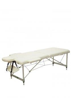 HY-2010-1.3 | Массажный стол 2-х секционный (алюмин. рама) белый
