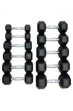 DD 6442-12.5 | Гантель шестигранная обрезиненная 12,5 кг