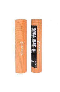Коврик (мат) для йоги и фитнеса HMS YM01 PVC 6 мм Orange