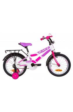 """Велосипед 16"""" Formula RACE CR 2019 (бело-малиновый с фиолетовым)"""