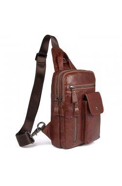 Мужская кожаная сумка через плечо John McDee 4006B