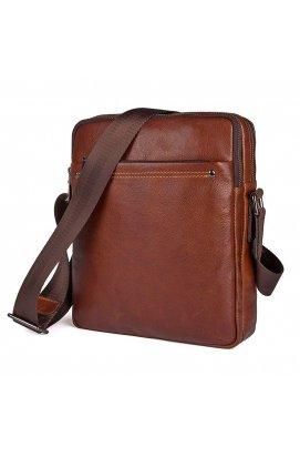Мужская кожаная сумка через плечо JD1043X, от бренда John McDee
