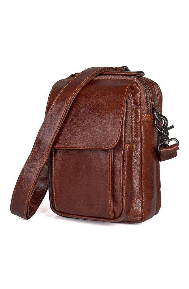 972a38408207 Мужская кожаная сумка через плечо JD1032B-1, от бренда John McDee ...