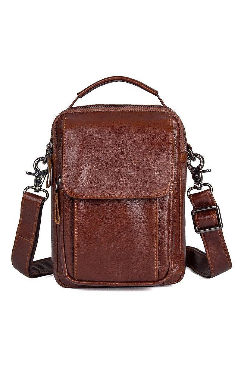 d30d7c0317fd ... Мужская кожаная сумка через плечо JD1032B-1, от бренда John McDee ...
