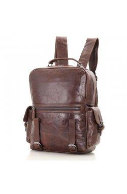 Рюкзак из телячьей кожи JD7355C фирмы John McDee