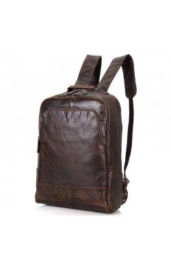 Мужской кожаный рюкзак для ежедневного использования John McDee 7347C