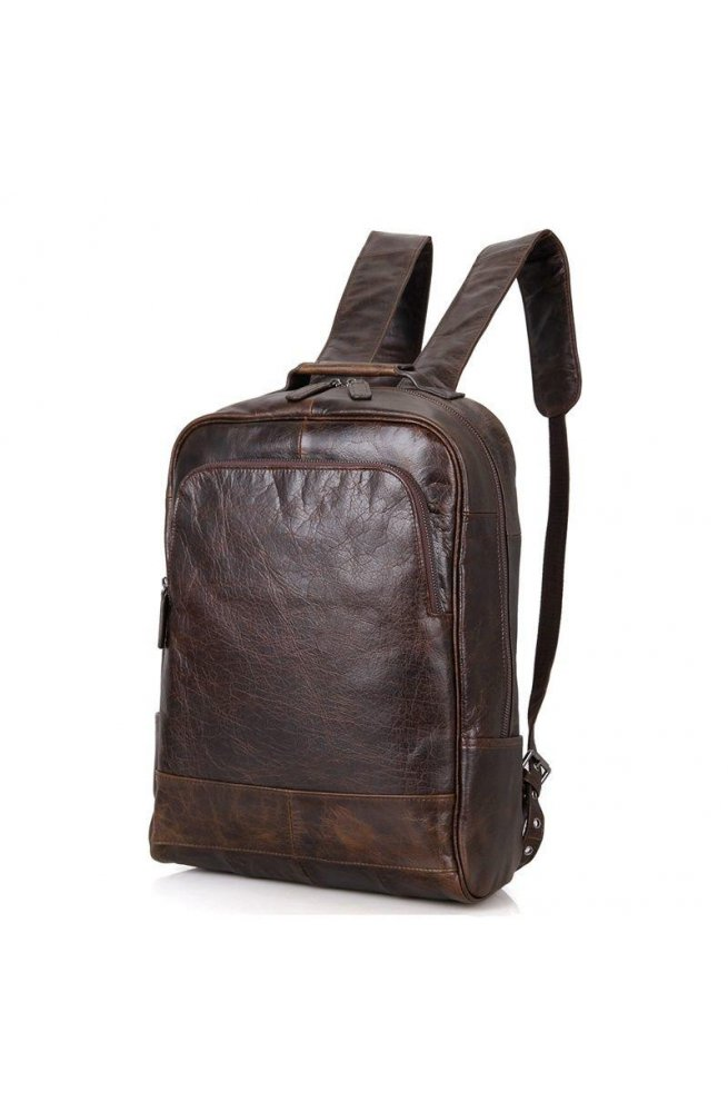 94294042a830 Мужской кожаный рюкзак для ежедневного использования John McDee 7347C