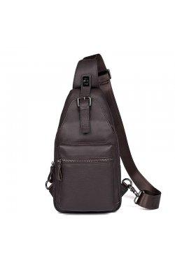 Оригинальный кожаный рюкзак на одно плечо JD4012Q от John McDee