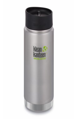 Термофляга Klean Kanteen Wide Vacuum Insulated Cafe Cap Brushed Stainless 592 ml