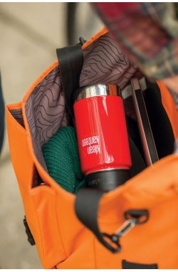 Термофляга Klean Kanteen Wide Vacuum Insulated Cafe Cap Mineral Red 355 ml