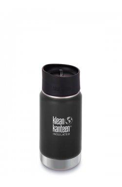 Термофляга Klean Kanteen Wide Vacuum Insulated Cafe Cap Shale Black (matt) 355 ml