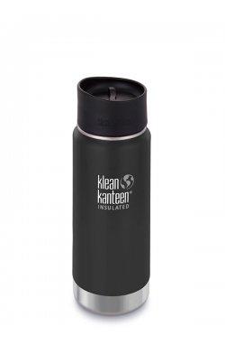 Термофляга Klean Kanteen Wide Vacuum Insulated Cafe Cap Shale Black (matt) 473 ml