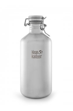 Фляга для пива и газированных напитков Klean Kanteen Growler Brushed Stainless 1900 ml