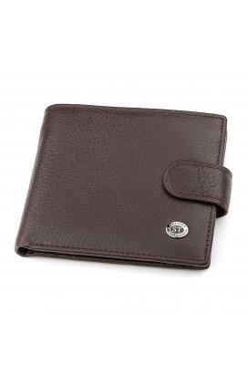 Мужской кошелек ST Leather 18307 (ST104) кожаный Коричневый, Коричневый