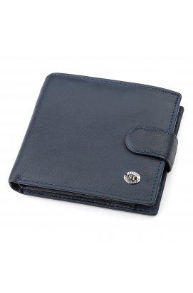 Мужской кошелек ST Leather 18341 (ST138) надежный Синий, Синий