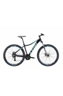 """Велосипед 27.5"""" Leon XC LADY DD 2019 (черно-мятный с голубым (м))"""