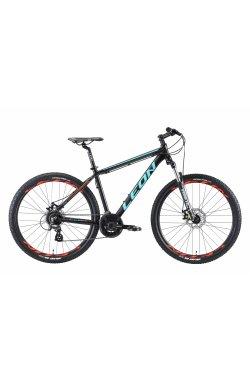 """Велосипед 27.5"""" Leon XC 90 DD 2019 (черно-бирюзовый с оранжевым (м))"""
