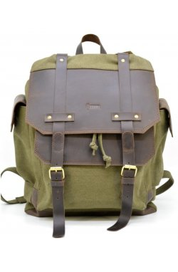 Городской рюкзак Урбан в комбинации ткань+кожа  TARWA RН-6680-4lx