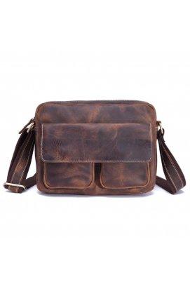 Качественная мужская сумка через плечо, цвет коричневый, Bexhill bx008