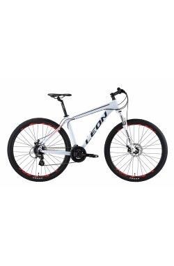 "Велосипед 29"" Leon TN 90 DD 2019 (бело-красный)"