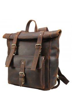 Брутальный рюкзак из лошадиной кожи P3171 Tiding