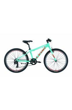 """Велосипед 24"""" Leon JUNIOR RIGID 2019 (бирюзовый)"""