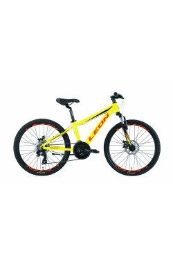 """Велосипед 24"""" Leon JUNIOR AM DD 2019 (салатно-оранжевый)"""