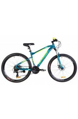 """Велосипед 27.5"""" Optimabikes F-1 DD 2019 (бирюзово-желтый)"""