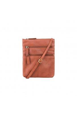 Сумка Visconti 18606 Slim Bag (Brown) - натуральная кожа, коричневый