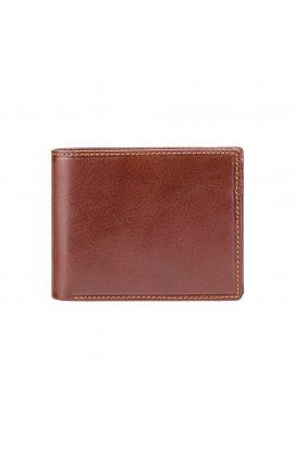 Кошелек мужской Visconti MZ4 Lazio c RFID (Italian Brown) - натуральная кожа, коричневый
