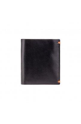 Кошелек мужской Visconti AP61 Brig (Black Orange) - натуральная кожа, черный/оранжевый
