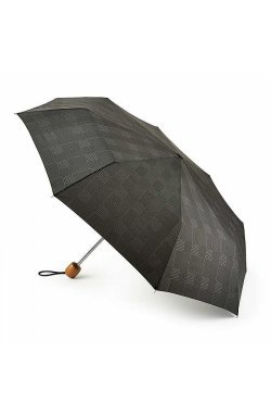 Зонт унисекс Fulton Stowaway Deluxe-2 L450 Smoke Grey Check (Серая клетка)