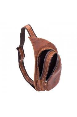 "Мини-рюкзак из натуральной кожи ""слинг"" на одно плечо T0210 BULL"