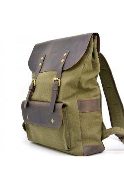 Рюкзак унисекс парусина и кожа RH-9001-4lx бренда TARWA