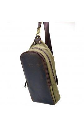 Слинг-рюкзак из канвас и лошадиной кожи RH-2017-4lx TARWA