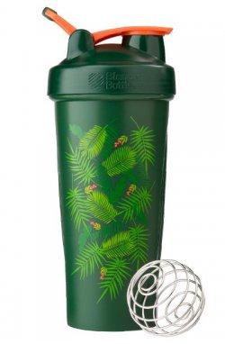 Спортивный шейкер BlenderBottle Classic Loop 820ml Special Edition Green-Coral (Art Palm) (ORIGINAL)