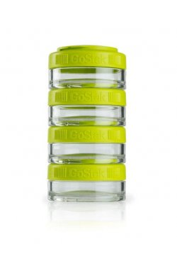 Контейнер спортивный BlenderBottle GoStak 4*40ml Green (ORIGINAL)